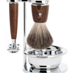 RYTMO Safety Razor Pure Badger - Steamed Ash with Bowl