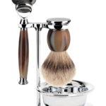 Sophist Fusion Buffalo Horn - Silvertip Bowl Shaving Set