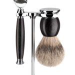 Sophist Fusion Grenadilla - Silvertip Shaving Set