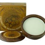 Coconut Oil Shaving Soap Wooden Bowl