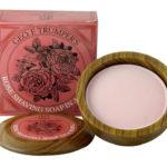 Rose Shaving Soap Wooden Bowl