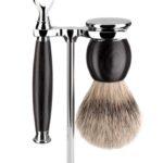 Sophist Mach 3 African Blackwood - Silvertip Shaving Set