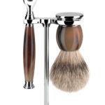 Sophist Mach 3 Buffalo Horn - Silvertip Shaving Set
